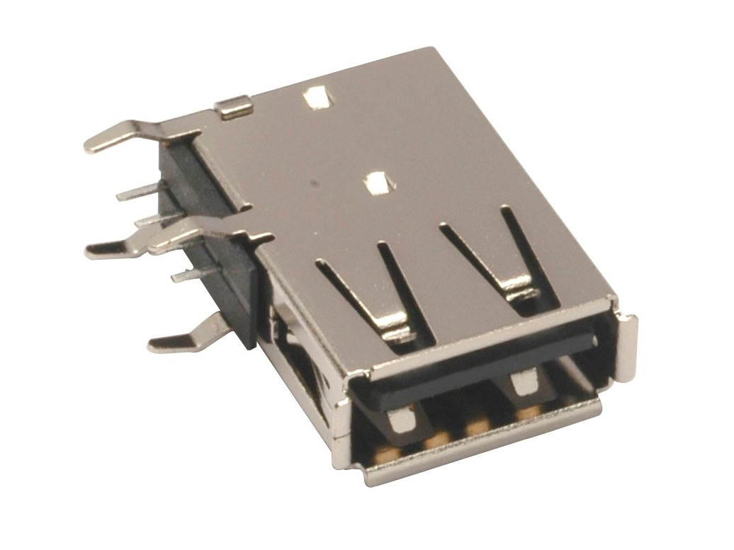 USB Type A upright flag connectors